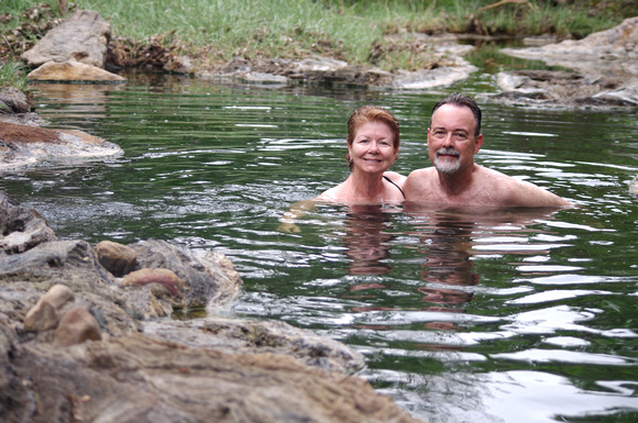 Swimming in the Tagalala Hot Springs.