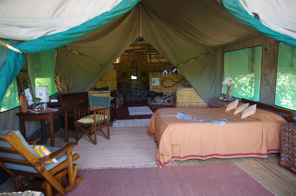 Mwagusi Camp - our bedroom tent.